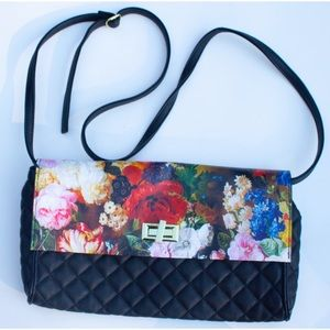 Steve Madden Bright Floral Clutch With Straps